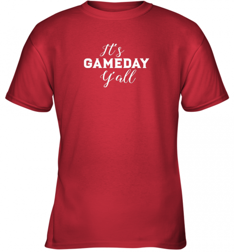 ywng it39 s game day y39 all football baseball basketball youth t shirt 26 front red
