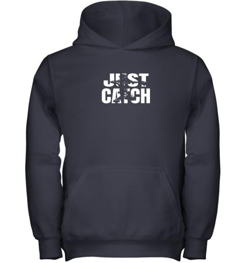 pqr4 just catch baseball catchers gear shirt baseballin gift youth hoodie 43 front navy