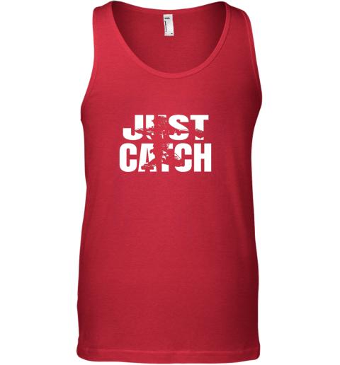 pdxx just catch baseball catchers long sleeve shirt baseballisms unisex tank 17 front red