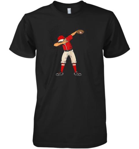 Dabbing Baseball Catcher Gift Shirt Kids, Men, Boys BZR Premium Men's T-Shirt
