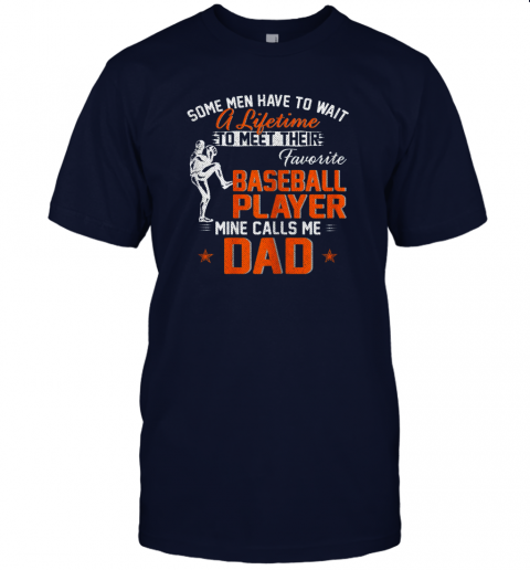 tlmc my favorite baseball player calls me dad funny father39 s day gift jersey t shirt 60 front navy