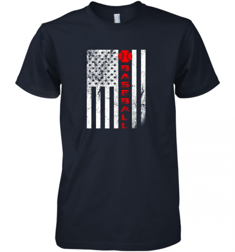2o1t usa red whitevintage american flag baseball gift premium guys tee 5 front midnight navy
