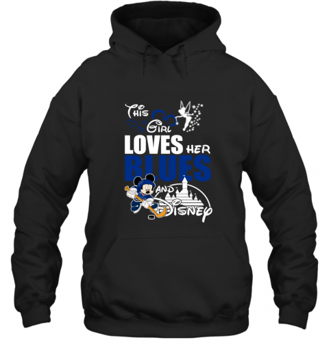 Girl Love Her ST. LOUIS BLUES And Mickey Disney Hoodie