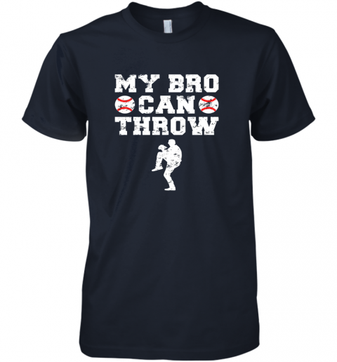 w8jn kids cute baseball brother sister funny shirt cool gift pitcher premium guys tee 5 front midnight navy