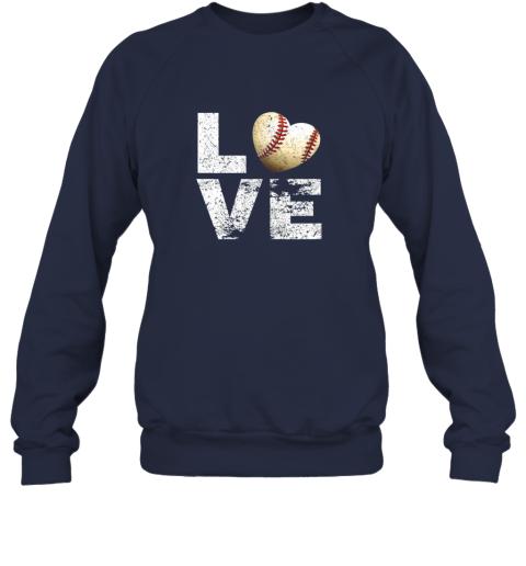 jean i love baseball funny gift for baseball fans lovers sweatshirt 35 front navy