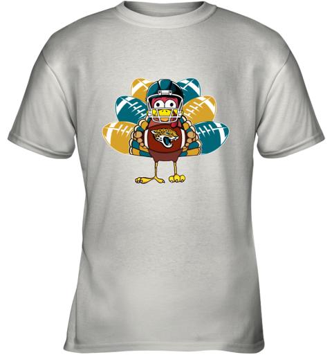 Jacksonville Jaguars  Thanksgiving Turkey Football NFL Youth T-Shirt
