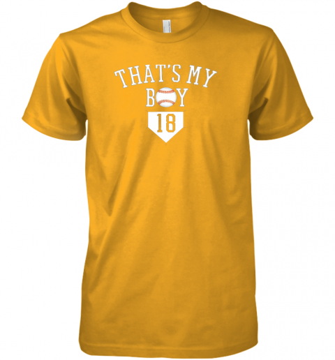 ulp5 that39 s my boy 18 baseball number 18 jersey baseball mom dad premium guys tee 5 front gold