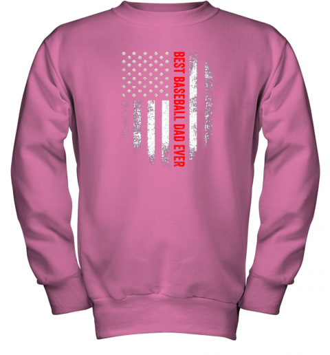 o0yt vintage usa best baseball dad ever american flag daddy gift youth sweatshirt 47 front safety pink