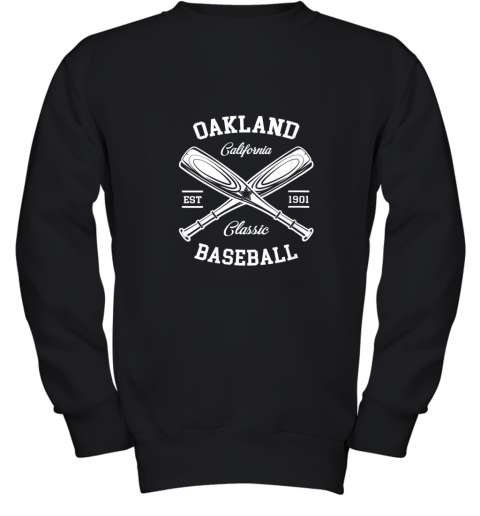 Oakland Baseball, Classic Vintage California Retro Fans Gift Youth Sweatshirt