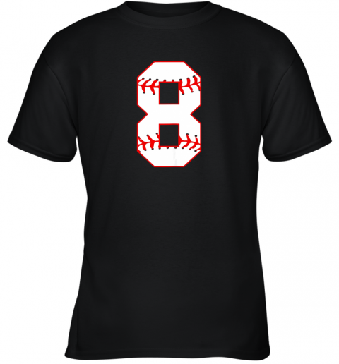 Cute eighth Birthday Party 8th Baseball Shirt Born 2011 Youth T-Shirt