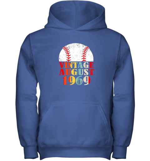 kvq0 born august 1969 baseball shirt 50th birthday gifts youth hoodie 43 front royal