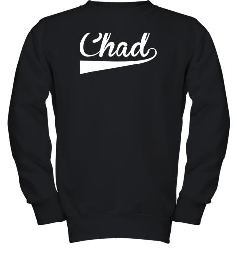 CHAD Country Name Baseball Softball Styled Youth Sweatshirt