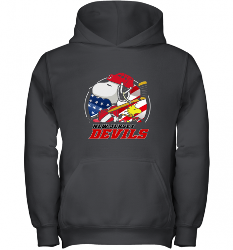 New Jersey Devils  Snoopy And Woodstock NHL Youth Hoodie