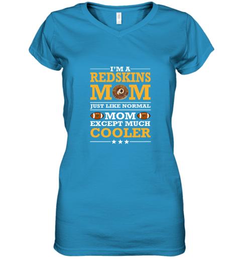 pj0o i39 m a redskins mom just like normal mom except cooler nfl women v neck t shirt 39 front sapphire