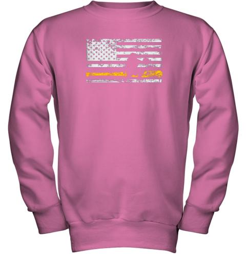 d8bq softball catcher shirts baseball catcher american flag youth sweatshirt 47 front safety pink