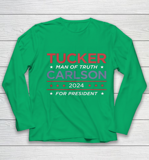 Vote For Tucker Carlson 2024 Presidential Election Campaign Youth Long Sleeve 4