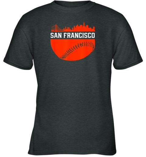 4rnd san francisco baseball vintage sf the city skyline gift youth t shirt 26 front dark heather
