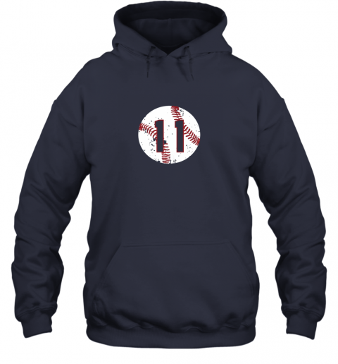 ffhw vintage baseball number 11 shirt cool softball mom gift hoodie 23 front navy
