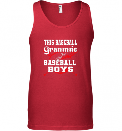 ueoh this baseball grammie loves her baseball boys unisex tank 17 front red