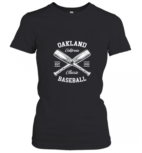 axv4 oakland baseball classic vintage california retro fans gift ladies t shirt 20 front black