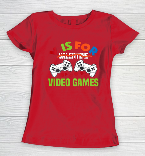 Funny Video Games Lover Valentine Day Women's T-Shirt 9
