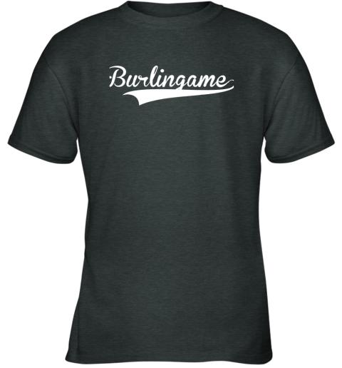yzq8 burlingame baseball softball styled youth t shirt 26 front dark heather