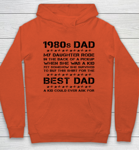 Funny Girl Dad 1980s Dad And Daughter Father's Day Hoodie 3