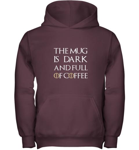 The Mug Is Dark And Full Of Coffee  Coffee Mug Youth Hoodie