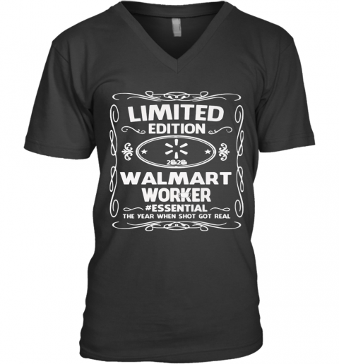 Limited Edition Walmart Worker Essential The Year When Shit Got Real Mask V-Neck T-Shirt