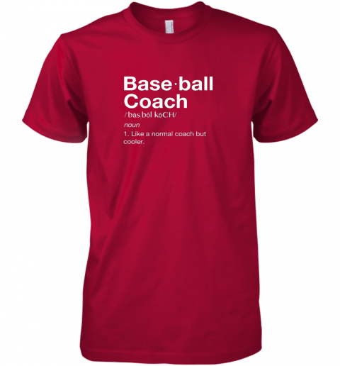 h3mq coach baseball shirt team coaching premium guys tee 5 front red