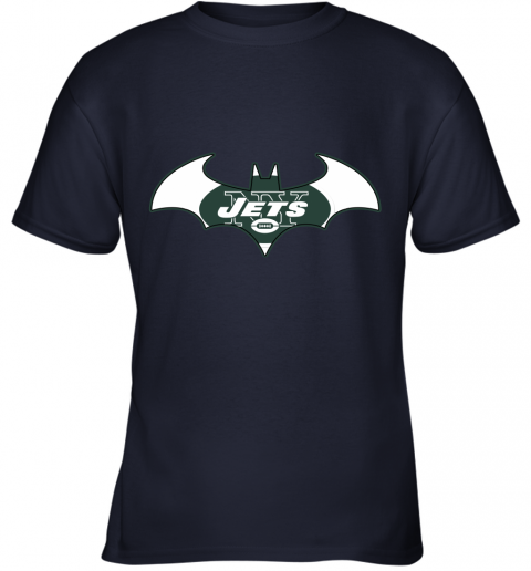 yafx we are the new york jets batman nfl mashup youth t shirt 26 front navy