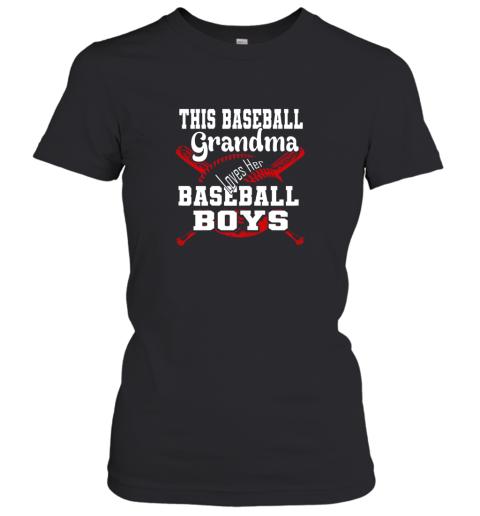 This Baseball Grandma Loves Her Baseball Boys Women's T-Shirt