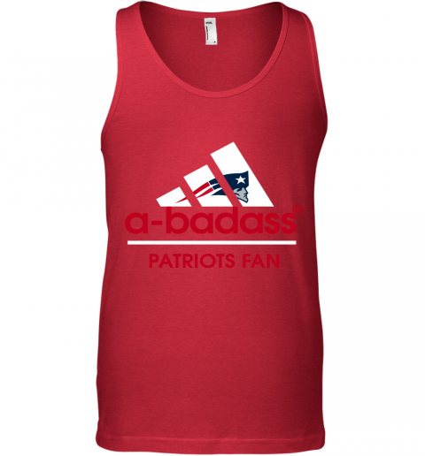 yxuk a badass new england patriots mashup adidas nfl shirts unisex tank 17 front red