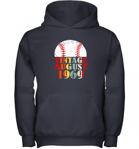 kvq0 born august 1969 baseball shirt 50th birthday gifts youth hoodie 43 front navy