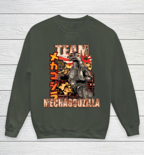 Team Mechagodzilla Japan Vintage Style Youth Sweatshirt 8