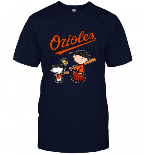 wmjp baltimore orioles lets play baseball together snoopy mlb shirt jersey t shirt 60 front navy
