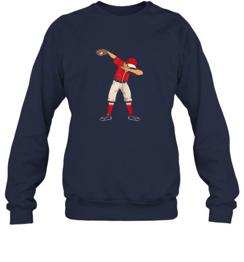 wyro dabbing baseball catcher gift shirt men boys kids bzr sweatshirt 35 front navy