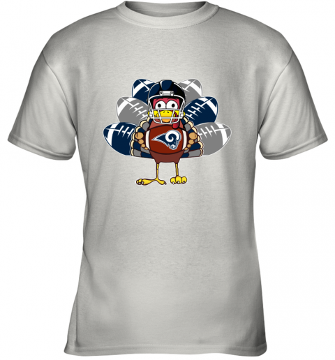 Los Angeles Rams  Thanksgiving Turkey Football NFL Youth T-Shirt