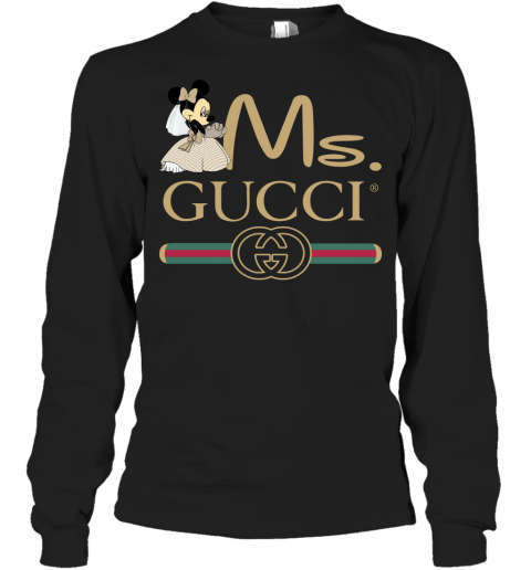 Gucci Disney Ms Minnie Couple Valentine's Day Gift Adult Long Sleeve T-Shirt