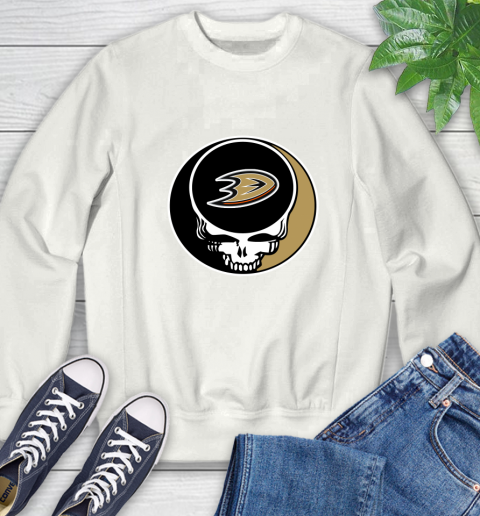 Anaheim Ducks Nhl Hockey Grateful Dead Rock Band Music Sweatshirt