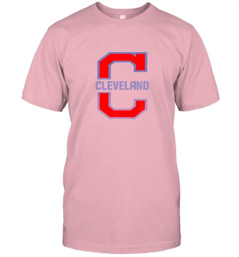 w5ik cleveland hometown indian tribe vintage jersey t shirt 60 front pink