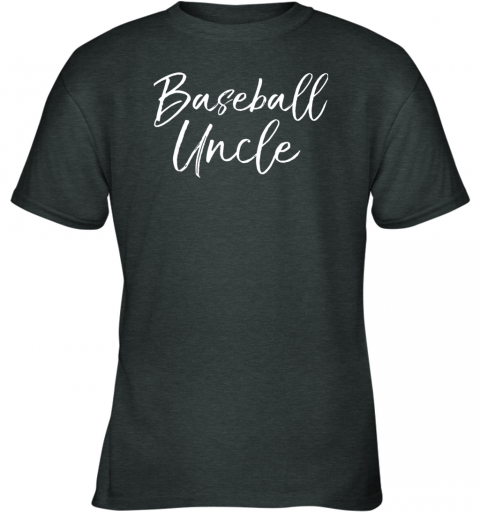 5rmk baseball uncle shirt for men cool baseball uncle youth t shirt 26 front dark heather