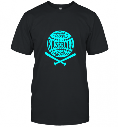 Talk Baseball To Me Groovy Ball Bat Silhouette Unisex Jersey Tee
