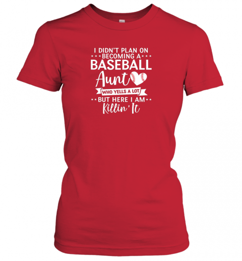 x2pa i didn39 t plan on becoming a baseball aunt gift ladies t shirt 20 front red