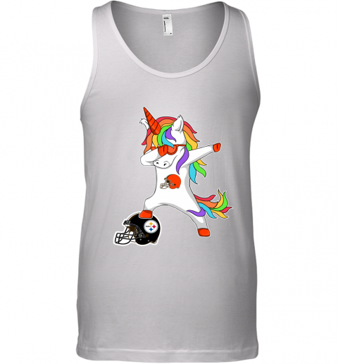 Football Dabbing Unicorn Steps On Helmet Cleveland Browns Tank Top