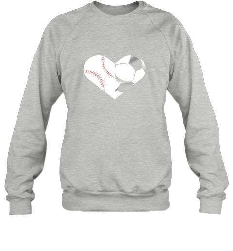 rswr soccer baseball heart sports tee baseball soccer sweatshirt 35 front sport grey