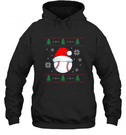 Ugly Christmas Baseball Shirt Boys Kids Ball Santa Pajama Hoodie