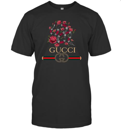 Gucci Logo Snake Mens T-Shirt