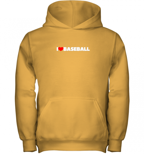 pymg i love heart baseball youth hoodie 43 front gold