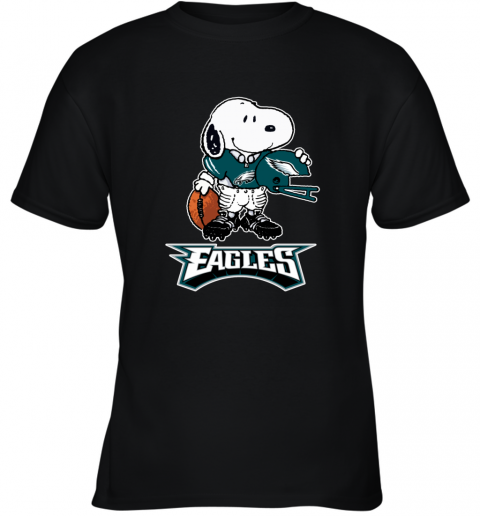 Snoopy A Strong And Proud Philadelphia Eagles NFL Youth T-Shirt